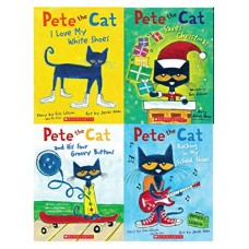 Pete the Cat Picture Book 4-Bookset Paperback