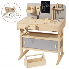 Kid's Workbench with toolbox with tools