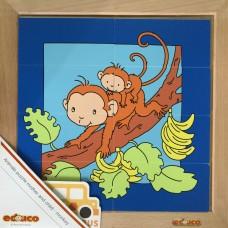 Animal puzzle mother + child - monkey