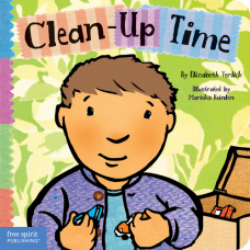 Clean-Up Time Board Book Toddler Tools