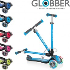 Globber Elite Lights (Wheels & Deck) 3 Wheel Folder Flashing Scooter