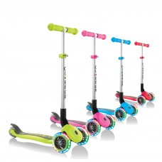 Globber Primo Foldable Lights 3 Wheel Scooter