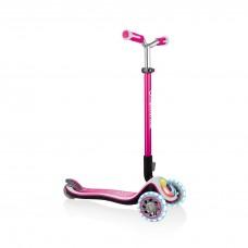 Globber Elite Prime Light Up Scooter Pink