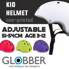 Globber Adjustable Kid Helmet 51-54cm (non-print)