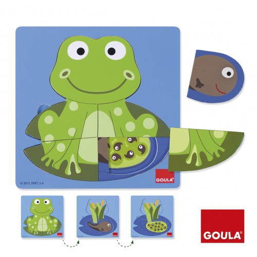 Wooden Puzzle Frog