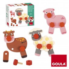 Goula Screw In And Play Farm Animals