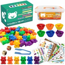 Rainbow Bears Counting and Matching Game - Baby Version