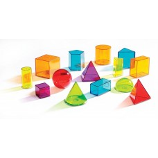 Learning Resources View-Thru Geometric Solids (Set of 14)