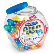 Ten-Sided Dice in Dice (Set of 72)