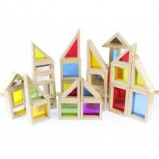 Assorted Rainbow And Mirror Block Set Set 29 Piece
