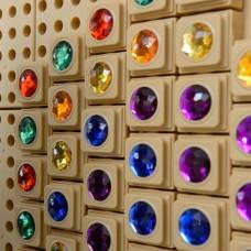 STEM Wall 72 Piece Gem Stone Blocks 6 Colours