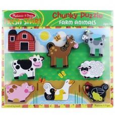 Melissa and Doug Farm Animals Chunky Puzzle
