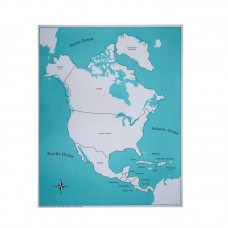Labeled North America Control Map