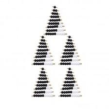 5 Pairs Of Bead Stairs 1-9 Black & White