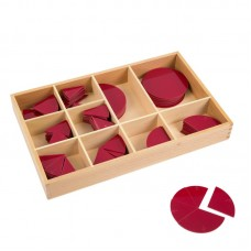 Montessori Cut - Out Fraction Circles 1/1 To 1/10