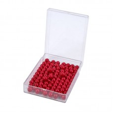 100 Red Beads With Plastic Box