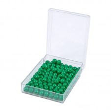 100 Green Beads With Plastic Box