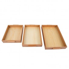 3 Individual Trays With Handle