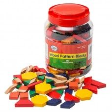 Wooden Pattern Blocks for Maths 250Pcs
