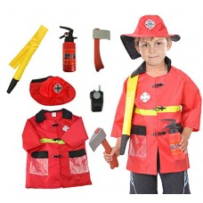 Fire Fighter Kid Role Play Costume Age 3-6