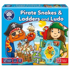 Orchard Toys Pirate Snakes And Ladders & Ludo Board Game
