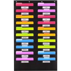 Heavy Duty File Organizer Folder Storage Pocket Chart (20 File Pocket with Nametag)