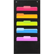 Heavy Duty File Organizer Folder Storage Pocket Chart (5 File Pocket)