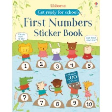 Usborne Get Ready For School First Numbers Sticker Book