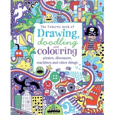 Usborne Drawing Doodling Colouring Pirates Dinosaurs Machines And Other Things