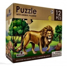 Wenno Puzzle 12 pcs with Animal Figurine - Lion