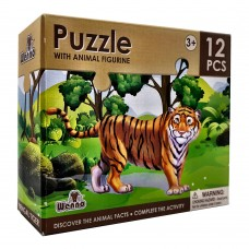 Wenno Puzzle 12 pcs with Animal Figurine - Tiger